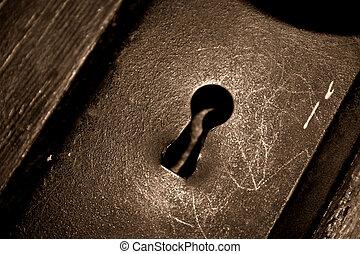 Antique Key Hole - Antique or retro skeleton key style...