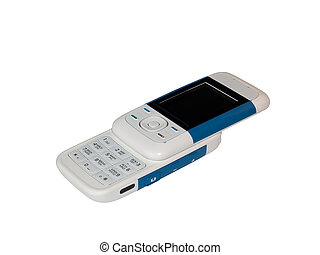 Cell phone - The isolated image of the slider cell phone...