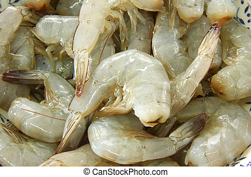 Whole raw prawns - Whole fresh raw prawns in shell unpeeled