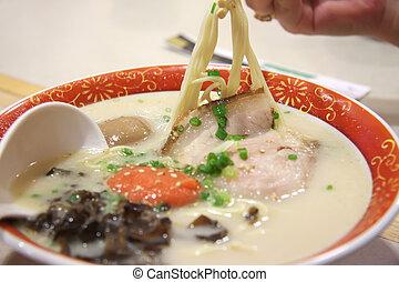 Japanese noodles - Japanese pork soup noodles udon...