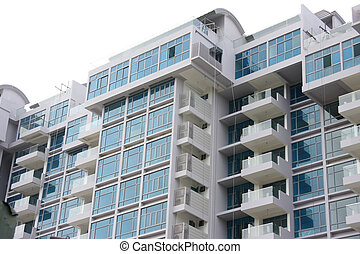 Modern apartments - Modern apartment buildings closeup of...