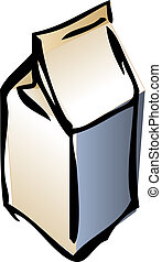 Carton of milk, illustration in isometric 3d style lineart...