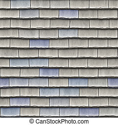 Roof tiles - A seamless pattern of roof tiles