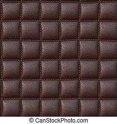 Leather - A background of stitched leather that will tile...