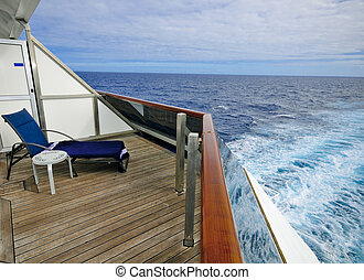 View from the Cruise Ship - View from a balcony on a cruise...