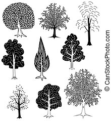 Trees - Set of simple tree designs