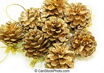 Shiny pinecones - Shiny pine cones with lot of speckles