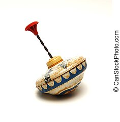 Antique Toy - An antique spinning top toy.