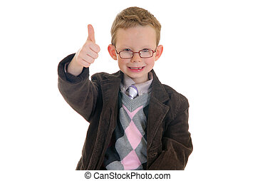 Successful child okay gesture - Handsome successful young...