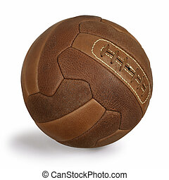 Retro soccer ball - An isolated image of an old retro...