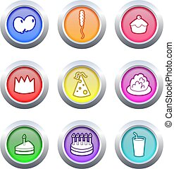 party buttons