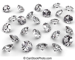Several diamonds with soft shadows - Several diamonds with...