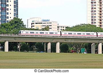 Mono Rail Transit - A mono rail transit used for public...