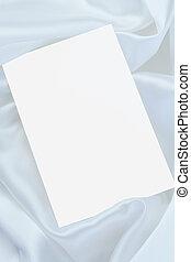 White blank card on white