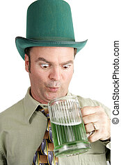St. Paddy\\\'s Day Thirst - Man on St. Patrick\\\'s Day...