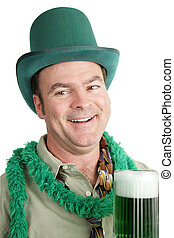 St Paddy\\\'s Day Drunk - P - Portrait of a drunk man...