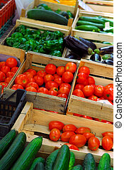 Vegetables on the market - Fresh vegetables for sale on...