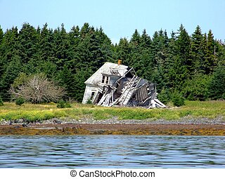 Old falling down house Lahave Lunenburg County Nova Scotia...