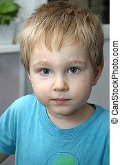 Michael\\\'s portrait - Portrait of the child looking...