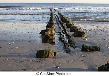 Old destroyed pier at Atlantic City