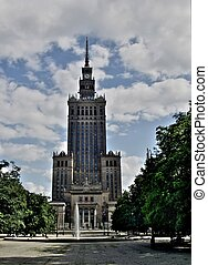 Palace of Culture in Warsaw - Palace of culture and science...