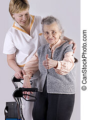 Healthcare - Health care worker and senior