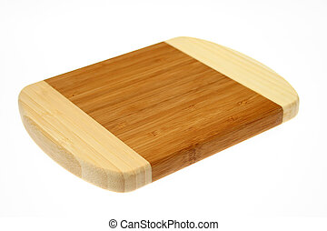 Chopping board isolated over white background.