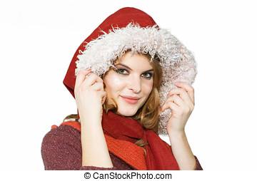 High Fashion - Young woman wearing a autumn high fashion...