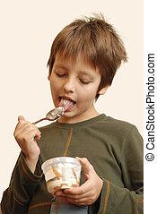 Boy with ice-cream