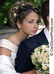 Beautiful Bride Portrait - A portrait of a bride in a...