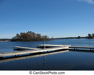 boat dock at end of season