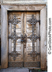 Old fashion door with lock - Old fashion door with rusty...