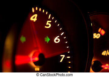 Glowing Tachometer - High revving tachometer from a modern...