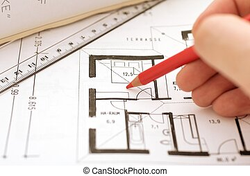 correction on a floorplan - correct a floorplan