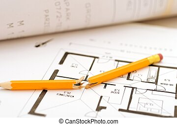plan failed - broken pen on failed floorplan