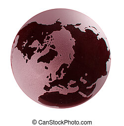 Glass Globe with red tint