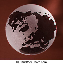 Glass Globe with red background