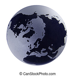 Glass Globe with blue shading