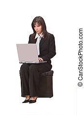 從事工商業的女性, 膝上型