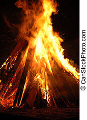 Pyre - Bonfire - Campfire - Huge pyre ignited during the...