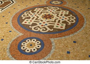 tile floor in Italy - beautiful tile and marble floor in...