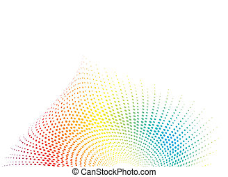 shell rainbow - Shell inspired abstract illustration in...