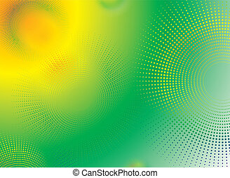 subtle radiate - Abstract circular design in green and...