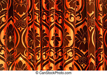 Curtain background - Big coulisse curtain in theatre made...