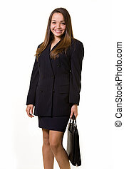 Business woman - Attractive young brunette woman wearing...