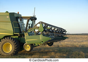Combine Harvester - A modern combine harvester in the field