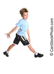Feeling Happy - A boy stepping out feeling happy
