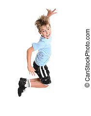 Active boy leaping - Active, energetic and happy go lucky...