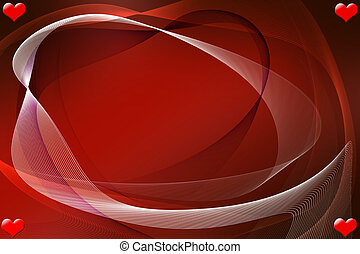 valentine - Romantic background with red hearts for...