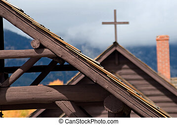 Chapel Roof - Detail of the roof of the Chapel of the...